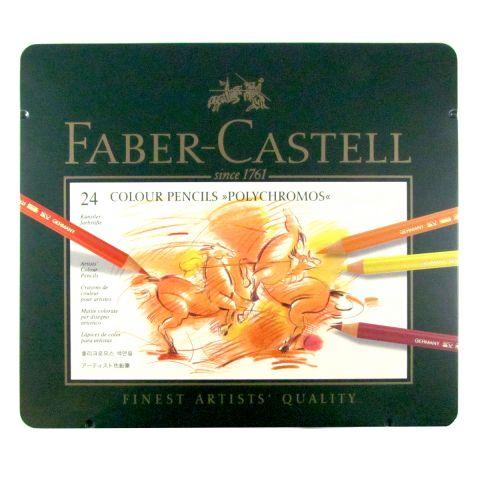 Faber Castell Polychromos Pencil Tin Set of 24