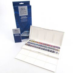 Winsor & Newton Cotman Watercolour 45 Half Pan Artist Box Set