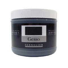 Sennelier Artists Coloured Gesso Black 500ml
