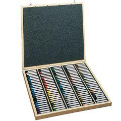 Sennelier 120 Assorted Oil Pastel Wooden Box Set