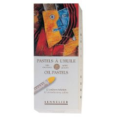 Sennelier 12 Assorted Oil Pastel Box Set.Professional Artist Quality Pastels