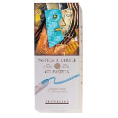 Sennelier 12 Iridescent Oil Pastel Box Set.Professional Artist Quality Pastels