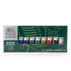 Winsor & Newton Winton Oil 10 x 37ml Artists Paint Tube Box Set