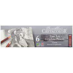 Cretacolor Cleos Fine Artists Graphite Pencil Tin Set of 6 (2H,HB,2B,4B,6B,8B)