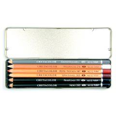 Cretacolor Artists Drawing Pencils Primo Pocket Tin Set