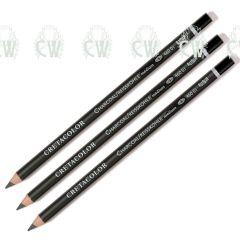 3 X Cretacolor Artists Charcoal Pencils MEDIUM