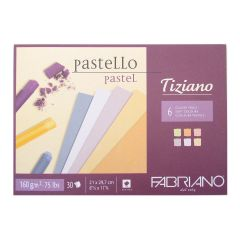Fabriano Tiziano Pastel Paper Pads Soft Shades