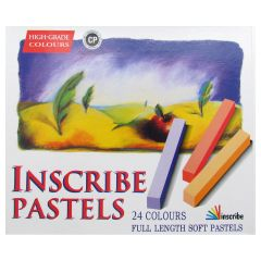 Inscribe Soft Pastels Box Set of 24 Assorted Colours Full Size