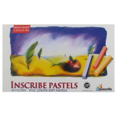 Inscribe Soft Pastels Box Set of 48 Assorted Colours Full Size