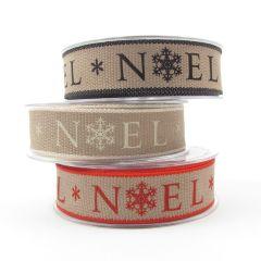 Berisfords Rustic Style Christmas Ribbon 25mm