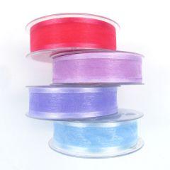 25mm Satin Edged Organza Ribbon Rolls