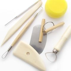 8 piece Artists Pottery Tool Set. Clay Modelling & Sculpting Tools