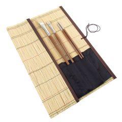 Artists Bamboo Brush Roll Holder Long (36cm x 36cm)