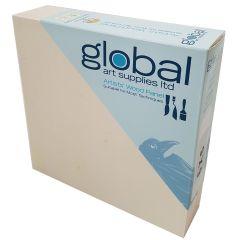 """Global Artists Wooden Panel Natural Unprimed 38mm Deep 12"""" x 12"""""""