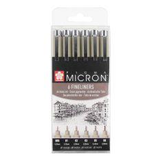 Sakura Pigma Micron 6 Drawing Pen Black Set