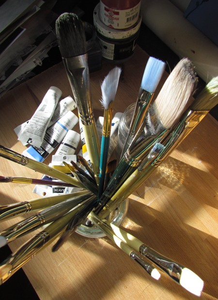 Brushes used for Acrylic Painting
