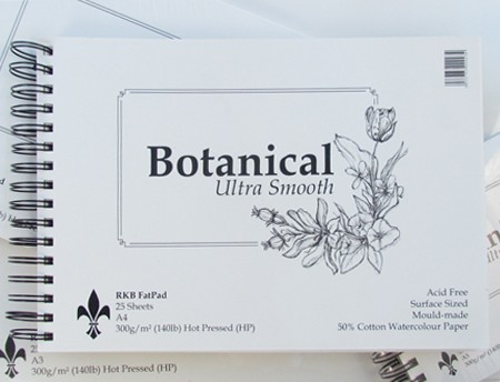 The cover of the Botanical Ultra Smooth Watercolour