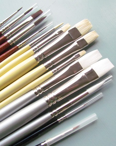 New synthetic and hog artists oil painting brushes