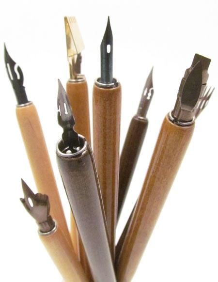 A selection of Dip Pens sold by Curtisward