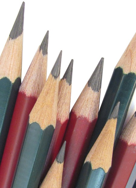 A selection of graphite pencils