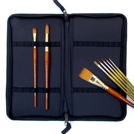 Zip Up Nylon Brush Case