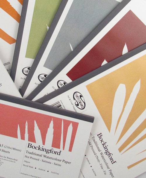 Curtisward Pads offer options in the three Watercolour Paper Surfaces