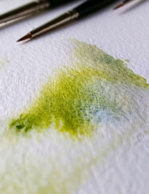 Watercolour Paint on a Cold Pressed Watercolour Paper
