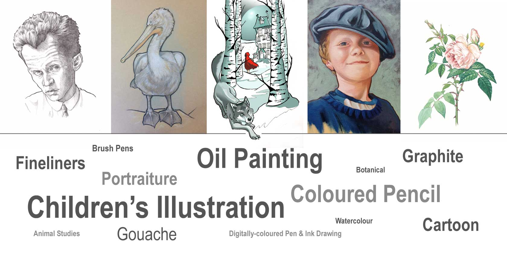 Examples of Artwork by Kim Curtis