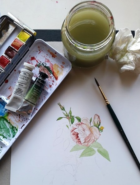 Botanical Ultra Smooth with Sennelier Watercolour and Pro Arte Renaissance Brush