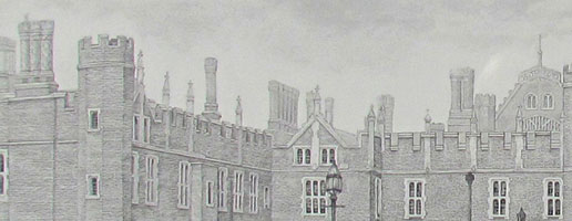 Detail from 'Hampton Court Palace' by Peter Taylor Ward