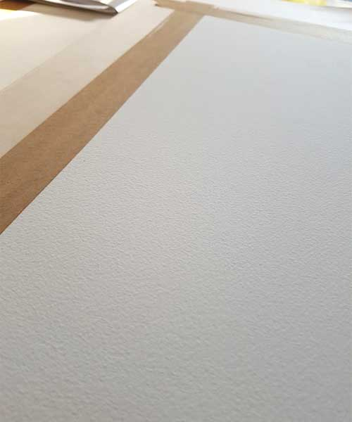Achieving a perfect surface for Watercolour Painting