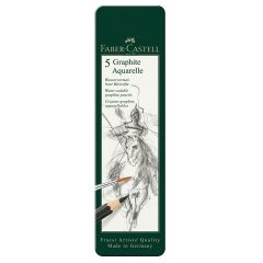 Faber Castell Graphite Aquarelle Tin Set of 5