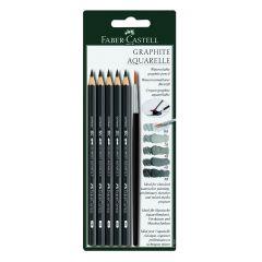Faber Castell Graphite Aquarelle Pencils and Brush Set