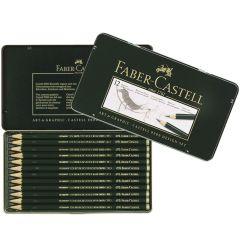 Faber Castell Finest Artist 9000 12 Drawing Pencil Tin Design Set