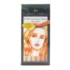 Faber-Castell Pitt Artist Pen Brush Skin Tones (Wallet of 6)