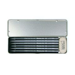 Cretacolor Monolith Pocket Set Tin Box 7, graphite pencil Set in tin with eraser