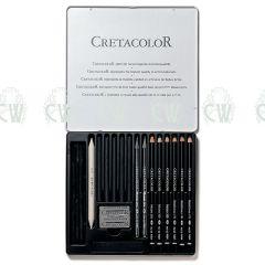 Cretacolor Artists Pencils Black Selection Tin Set