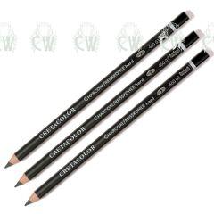 3 X Cretacolor Artists Charcoal Pencils HARD