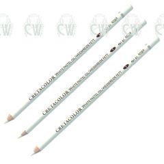 3 X Cretacolor Artists White Oil Pastel Pencils