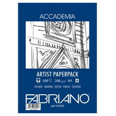 Fabriano Accademia 100 Sheets 200gsm A4 Artist White Paper Pack