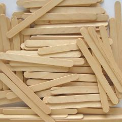 150 Natural Wooden Lolly Sticks