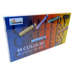 Inscribe Gallery Box Set of 48 Oil Pastels