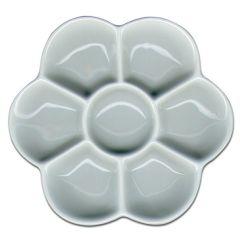 Artists Small Porcelain Daisy Palette 7 Wells 120mm