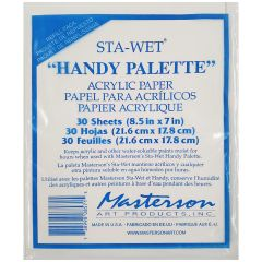 Masterson Painters Handy Stay Wet Palette Refill Pk 30 Sheets