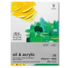 """Winsor & Newton Oil and Acrylic Painting Paper Pad 300g 16x12"""" (406x305mm)"""